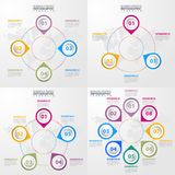 Business Infographics design elements template illustration. Business Infographics, strategy, timeline, design elements template illustration. Vector eps10 Royalty Free Stock Photography