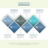 Business infographics design template blue grey color tone. Business Infographics, strategy, timeline, design template illustration blue grey color tone. Vector Stock Image