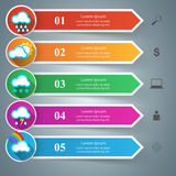 Business Infographics. Sun, Weather, Cloud icon. 3D infographic design template and marketing icons. Wheather icon Royalty Free Stock Image