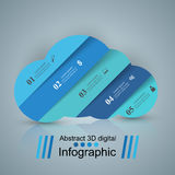 Business Infographics. Sun, Weather, Cloud icon. 3D infographic design template and marketing icons. Wheather icon Stock Image