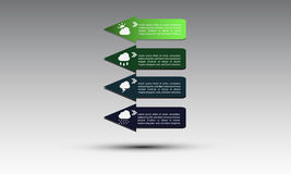 Business infographics tabs template for presentation;climate . Stock Photo
