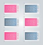Business infographics tabs template for presentation, education, web design, banner, brochure, flyer. Stock Image