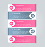 Business infographics tabs template for presentation, education, web design, banner, brochure, flyer. Royalty Free Stock Images