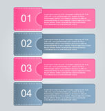 Business infographics tabs template for presentation, education, web design, banner, brochure, flyer. Stock Images