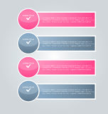 Business infographics tabs template for presentation, education, web design, banner, brochure, flyer. Royalty Free Stock Photo