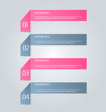 Business infographics tabs template for presentation, education, web design, banner, brochure, flyer. Stock Photos