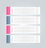 Business infographics tabs template for presentation, education, web design, banner, brochure, flyer. Stock Photography