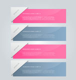 Business infographics tabs template for presentation, education, web design, banner, brochure, flyer. Royalty Free Stock Photography