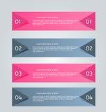 Business infographics tabs template for presentation, education, web design, banner, brochure, flyer. Stock Images