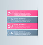 Business infographics tabs template for presentation, education, web design, banner, brochure, flyer. Stock Photo