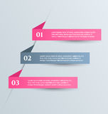 Business infographics tabs template for presentation, education, web design, banner, brochure, flyer. Royalty Free Stock Image