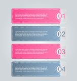 Business infographics tabs template for presentation, education, web design, banner, brochure, flyer. Royalty Free Stock Photos