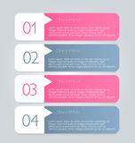 Business infographics tabs template for presentation, education, web design, banner, brochure, flyer. Stock Image