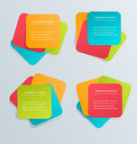 Business infographics tabs template Stock Photography
