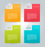 Business infographics tabs template Stock Photo
