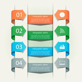 Business Infographics Template. Abstract business infographics template with arrows and icons. Business concept with 4 options, steps or processes. Can be used stock illustration