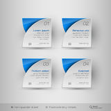 Business infographics template. Vector design elements. Royalty Free Stock Photography