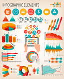 Business infographics template. Stock Photo