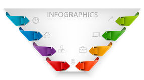 Business infographics template. Royalty Free Stock Photo