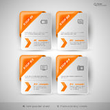 Business infographics template for web design, presentation, edu Stock Photos