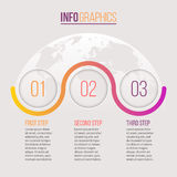 Business infographics. Timeline with 3 steps, circles. Vector template. Business infographics. Timeline with 3 steps, circles Vector template vector illustration
