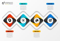 Business infographics. Timeline with 4 steps. Vector. Illustration Royalty Free Stock Images