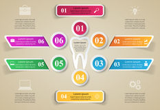 Business Infographics. Tooth icon. Stock Images