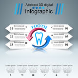 Business Infographics. Tooth icon. Stock Photo