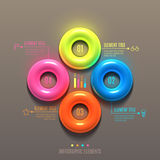 Business Infographics torus concept. 3d vector illustration. Can be used for web design and workflow layout Stock Photos