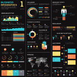 Business infographics vector elements in blue, red and yellow Stock Image