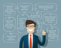 Business infographics. vector illustration Royalty Free Stock Photo