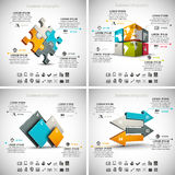 4 in 1 Business Infographics Royalty Free Stock Photos