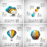 4 in 1 Business Infographics Stock Photo