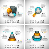 4 in 1 Business Infographics Royalty Free Stock Photo