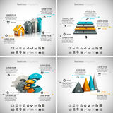 4 in 1 Business Infographics Stock Photography