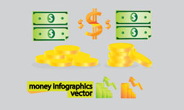 Business infograpic Money Royalty Free Stock Images