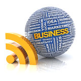 Business information concept, 3d render. White background Stock Photos