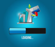 Business information loading. illustration design Stock Photo