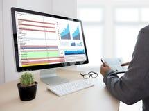 Business Information Technology people work hard Data Analytics Stock Photos