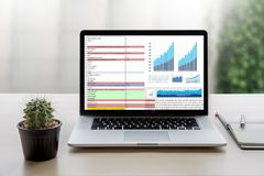 Business Information Technology people work hard Data Analytics Stock Image