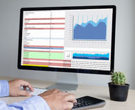Business Information Technology people work hard Data Analytics Royalty Free Stock Images