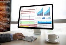 Business Information Technology people work hard Data Analytics Stock Photo