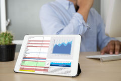 Business Information Technology people work hard Data Analytics Stock Images