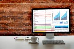 Business Information Technology people work hard Data Analytics Royalty Free Stock Image