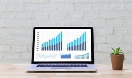 Business Information Technology people work hard Data Analytics Royalty Free Stock Photography