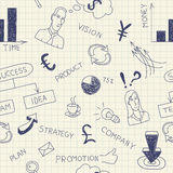 Business ink doodles on paper Royalty Free Stock Photo