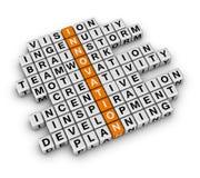 Business Innovation. New Business Innovation (3D crossword orange series Royalty Free Stock Photos