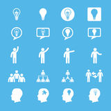 Business innovation concepts icons set Royalty Free Stock Photos