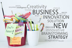 Business Innovation Creativity and Ideas Stock Image