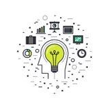 Business innovation line style illustration Stock Image